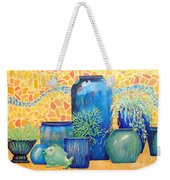 Green Fish And Friends Weekender Tote Bag
