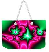 Green Flowers On Pink Ribbons Fractal 64 Weekender Tote Bag
