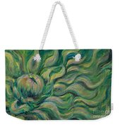 Green Flowing Flower Weekender Tote Bag