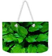 Green Foliage Weekender Tote Bag