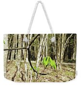 Green Foliage Forest Weekender Tote Bag