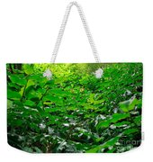 Green Foliage Weekender Tote Bag