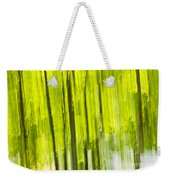 Green Forest Abstract Weekender Tote Bag by Elena Elisseeva
