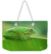 Green Frog Whitelips Weekender Tote Bag