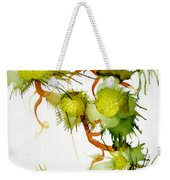 Green Fruit And Butterfly Weekender Tote Bag
