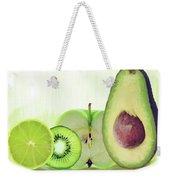 Green Fruits Watercolor Weekender Tote Bag