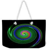 Green Galaxy Weekender Tote Bag