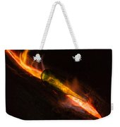 Green Glass Bottle And Campfire Weekender Tote Bag