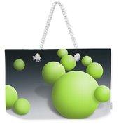 Green Globules Weekender Tote Bag
