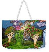 Green Goddesswith Waterfall2 Weekender Tote Bag