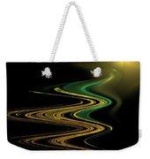 Green Gold Waves Weekender Tote Bag