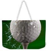 Green Golf Ball Splash Weekender Tote Bag