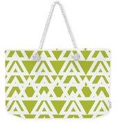 Green Graphic Diamond Pattern Weekender Tote Bag