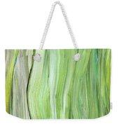 Green Gray Organic Abstract Art For Interior Decor Vi Weekender Tote Bag