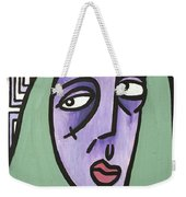 Green Hair Weekender Tote Bag