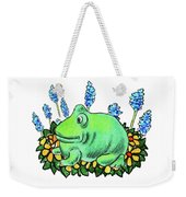 Green Happy Frog Weekender Tote Bag