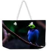 Green Headed Bird Profile Weekender Tote Bag