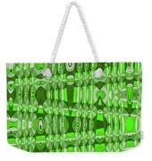 Green Heavy Screen Abstract Weekender Tote Bag