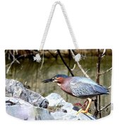 Green Heron . 7d614 Weekender Tote Bag