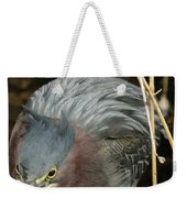 Green Heron Hunting Weekender Tote Bag