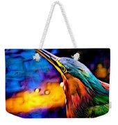Green Heron In Dramatic Hues Weekender Tote Bag