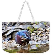 Green Heron Male Weekender Tote Bag