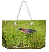 Green Heron On The Hunt Weekender Tote Bag