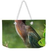 Green Heron Pose Weekender Tote Bag