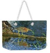 Green Heron Prowl Weekender Tote Bag
