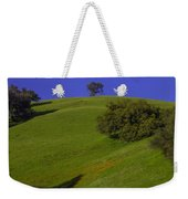 Green Hill With Poppies Weekender Tote Bag