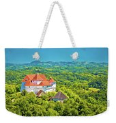Green Hills Of Zagorje Region And Veliki Tabor Castle View Weekender Tote Bag
