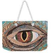 Green Iguana Eye Weekender Tote Bag