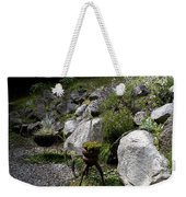 Green In Rock Garden Weekender Tote Bag