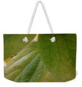 Green In Vein Weekender Tote Bag