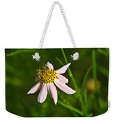 Green Iridescent Bee Weekender Tote Bag