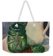 Green Jar Weekender Tote Bag