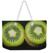 Green Kiwi Oil Painting  Weekender Tote Bag