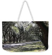 Green Lane With Live Oaks - Black Framing Weekender Tote Bag