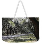 Green Lane With Live Oaks Weekender Tote Bag