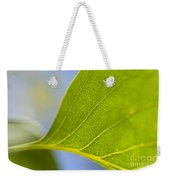Green Leaf Backlit  Weekender Tote Bag