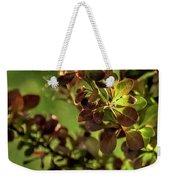Green Leaf Spotlight Weekender Tote Bag