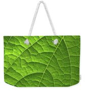 Green Leaf Structure Weekender Tote Bag