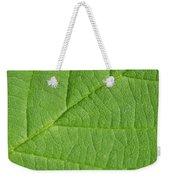 Green Leaf Texture Weekender Tote Bag