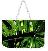 Green Leave With Holes Weekender Tote Bag