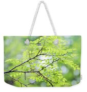 Green Leaves In The Forest Weekender Tote Bag