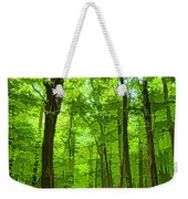 Green Light Harmony - Walking Through The Summer Forest Weekender Tote Bag