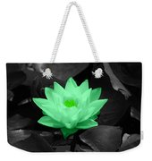 Green Lily Blossom Weekender Tote Bag