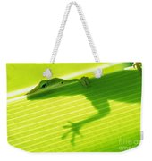 Green Lizard Weekender Tote Bag