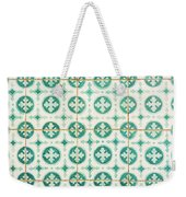 Green Lucky Charm Lisbon Tiles Weekender Tote Bag