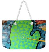 Green Map Of Michigan With And Arrow Pointing To Lansing Michiga Weekender Tote Bag